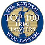 Top 100 Trial Lawyer Award from National Trial Lawyers