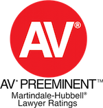 AV Preeminent Rating from Martindale-Hubbell